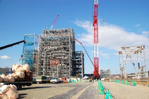 紋別市の木質バイオマス発電所